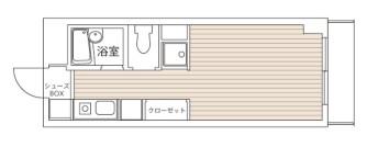1K(2階) 室内図