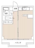 1LDK 室内図